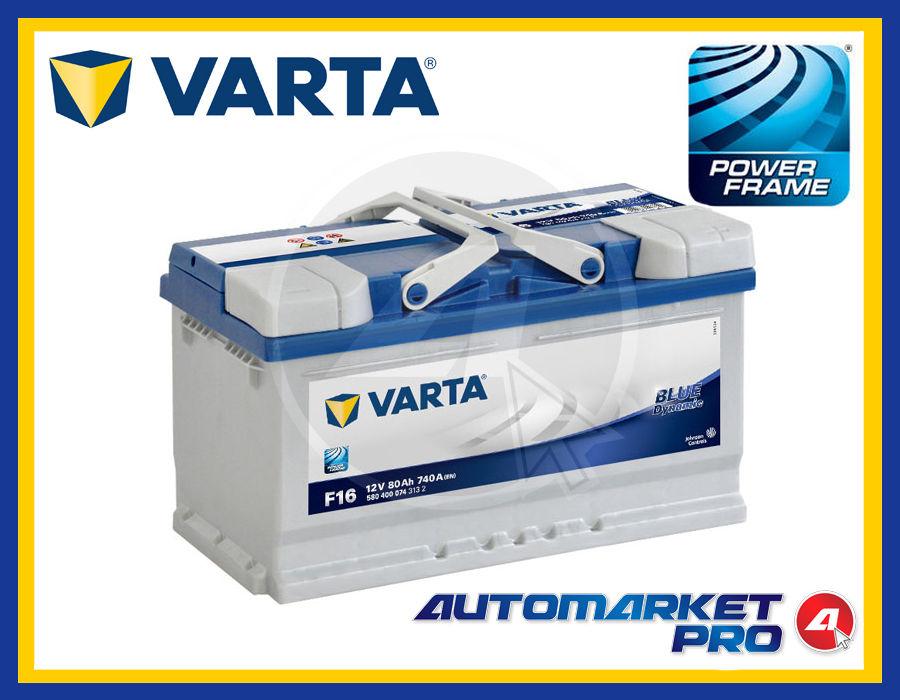 En 12 V 80Ah 740 Amps Varta Blue Dynamic F16 Batterie Voitures